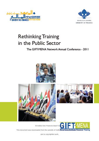 Rethinking Training in the Public Sector – The GIFT-MENA Annual Meeting 2011