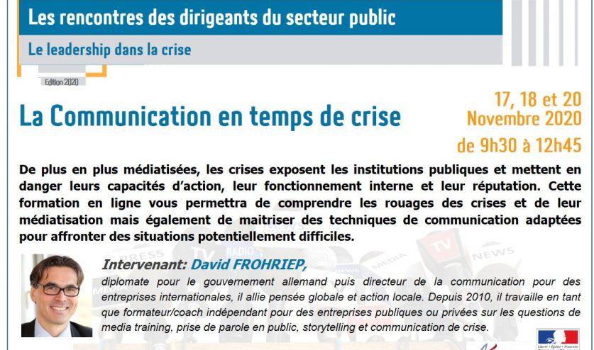 Communication en temps de crise